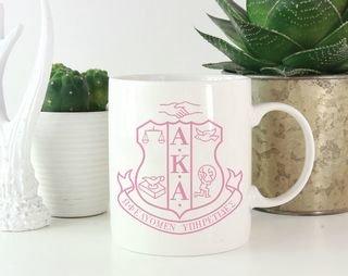 Alpha Kappa Alpha Crest Coffee Mug