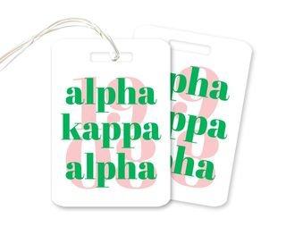 Alpha Kappa Alpha 1908 Luggage Tag