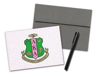 Alpha Kappa Alpha Color Crest - Shield Notecards(6)