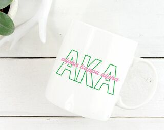 Alpha Kappa Alpha Letters Script Coffee Mug