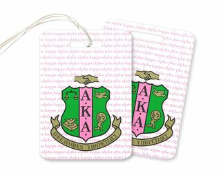 Alpha Kappa Alpha Crest Luggage Luggage Tag