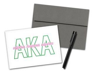 Alpha Kappa Alpha Letters Script Notecards(6)