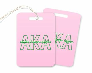 Alpha Kappa Alpha Letters Script Luggage Tag