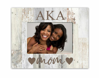 Alpha Kappa Alpha Hearts Faux Wood Picture Frame