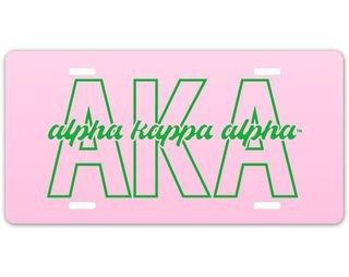 Alpha Kappa Alpha Letter Script License Plate