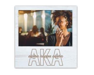 Alpha Kappa Alpha Letters Script Block Picture Frame