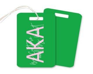 Alpha Kappa Alpha Motto Luggage Tag