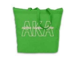 Alpha Kappa Alpha Letters Script Tote bag