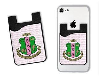 Alpha Kappa Alpha Crest Card Caddy Phone Wallet