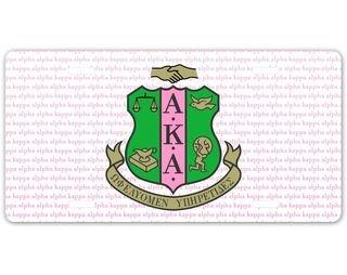 Alpha Kappa Alpha Striped Crest License Plate