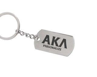 Alpha Kappa Lambda Dog Tag Style Custom Keychain
