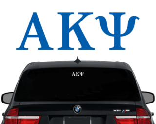 Alpha Kappa Psi Letters Decal