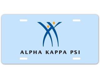 Alpha Kappa Psi Logo License Plate