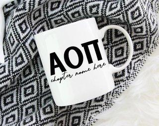 Alpha Omicron Pi Chapter Mug