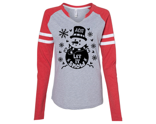 Alpha Omicron Pi Let It Snow Long Sleeve Jersey