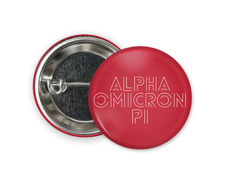Alpha Omicron Pi Modera Button