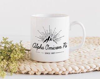 Alpha Omicron Pi Mountain Mug