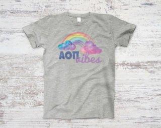 Alpha Omicron Pi Rainbow Vibes Tee
