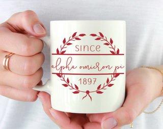 Alpha Omicron Pi Since Established Coffee Mug