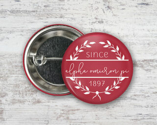Alpha Omicron Pi Since Founded Button