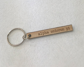 Alpha Omicron Pi Skinny Keychain