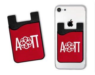 Alpha Omicron Pi Sorority Logo Caddy Phone Wallet