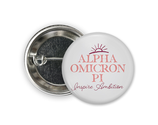 Alpha Omicron Pi Sun Button