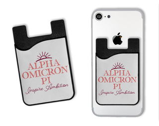 Alpha Omicron Pi Sun Card Caddy