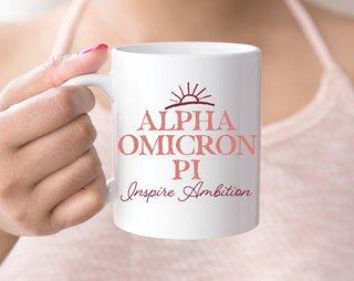 Alpha Omicron Pi Sun Mug
