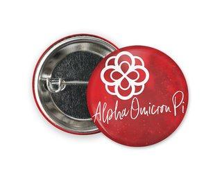 Alpha Omicron Pi Watercolor Script Button