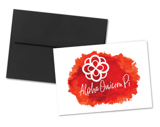 Alpha Omicron Pi Watercolor Script Notecards(6)