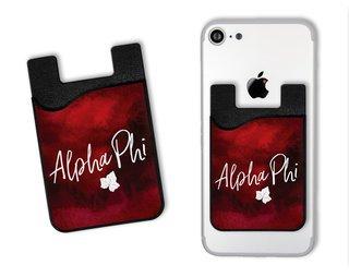 Alpha Phi Watercolor Caddy Phone Wallet