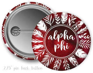 Alpha Phi Feathers Button