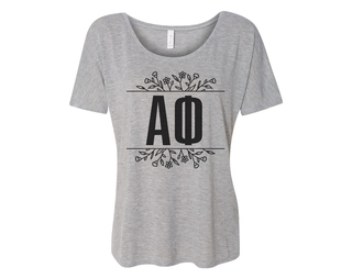 Alpha Phi Floral Letters Flowy Tee