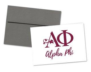 Alpha Phi Logo Notecards(6)