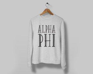 Alpha Phi Inline Sweatshirt