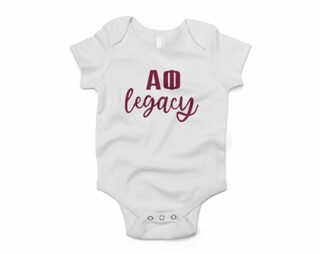 Alpha Phi Legacy Baby Outfit Onesie