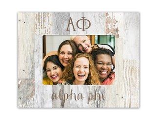 Alpha Phi Letters Barnwood Picture Frame