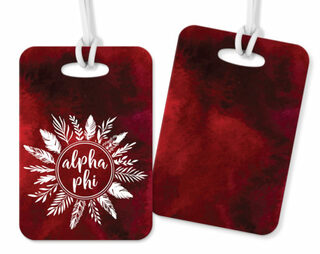 Alpha Phi Feathers Luggage Tags