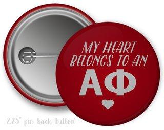 Alpha Phi My Heart Belongs to a Button