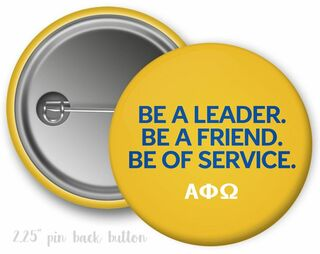 Alpha Phi Omega Be A Leader Button