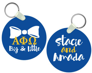 Alpha Phi Omega Big and Little Keychain