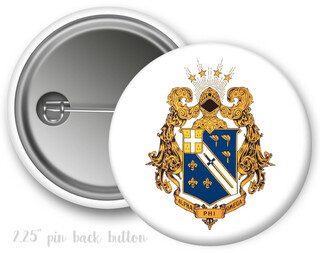 Alpha Phi Omega Color Crest - Shield Button