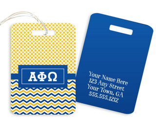 Alpha Phi Omega Geometric Luggage Tag