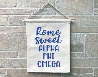 Alpha Phi Omega Home Sweet Home Banner