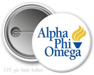 Alpha Phi Omega Logo Button