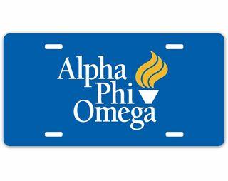 Alpha Phi Omega Logo License Plate