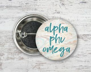 Alpha Phi Omega Marble Button