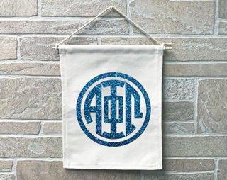Alpha Phi Omega Monogram Banner