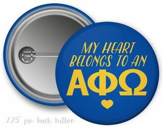 Alpha Phi Omega My Heart Belongs to a Button